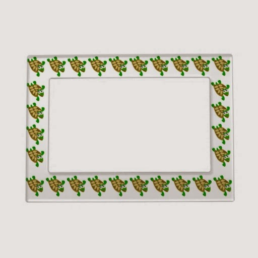 Rules of the jungle turtle picture frame