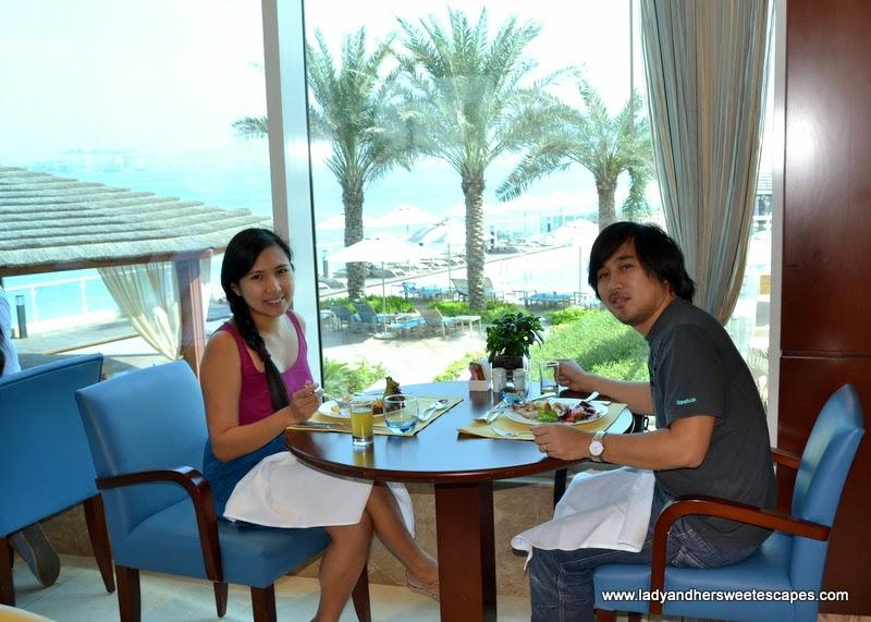 lunch date at Al Murjan in Oceanic Hotel