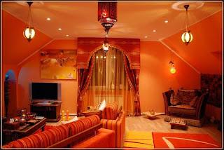 Decoración de interiores naranjas