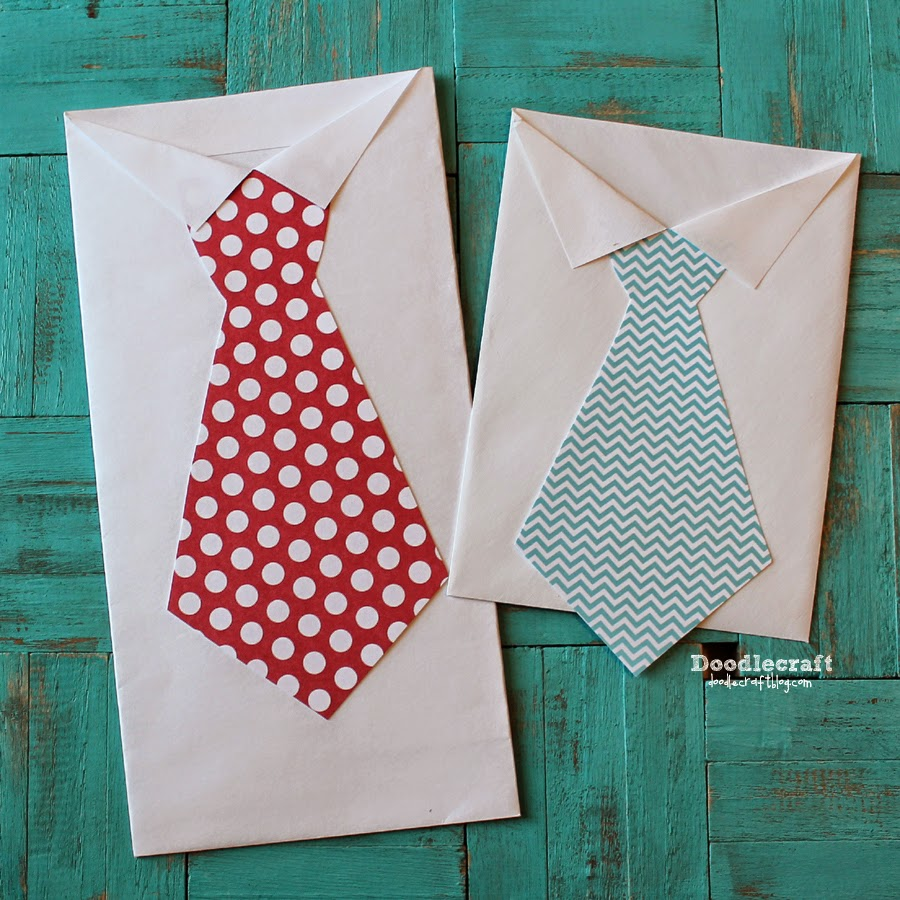 Doodlecraft Shirt And Tie Treat Holders From Envelopes