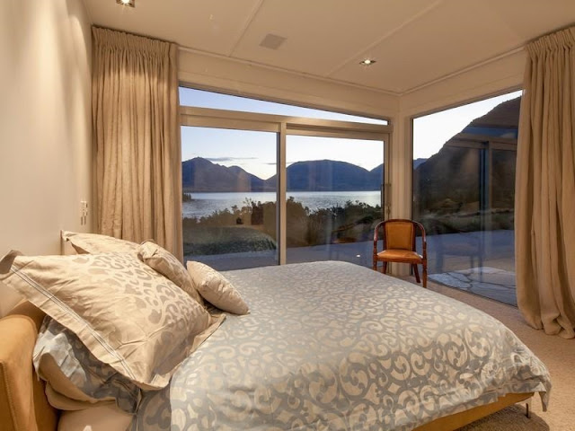 Second bedroom with glass wall
