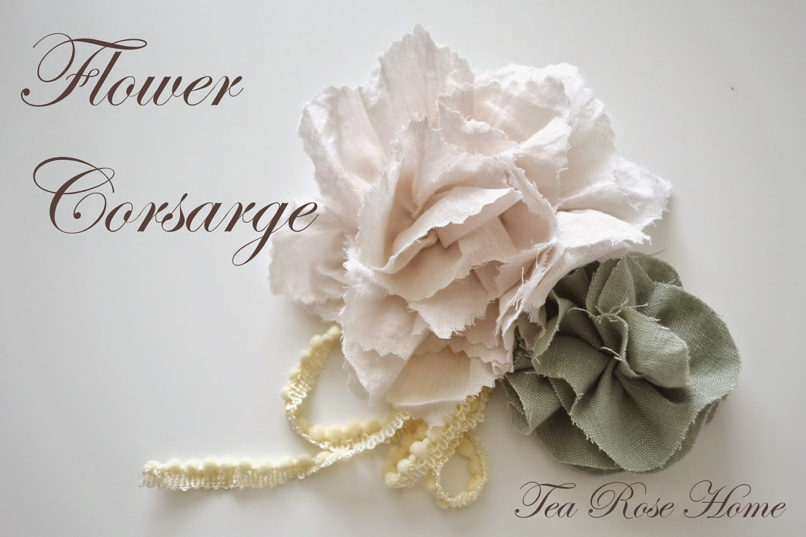 Diy fabric flower corsage mightylinksfo