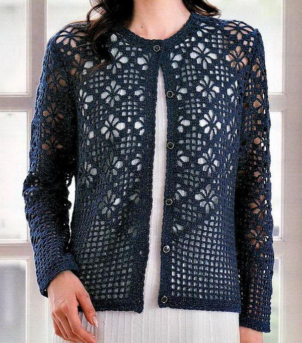 Crochet Jumper Patterns Uk : Crochet Sweaters: Cardigan - Crochet Cardigan Pattern