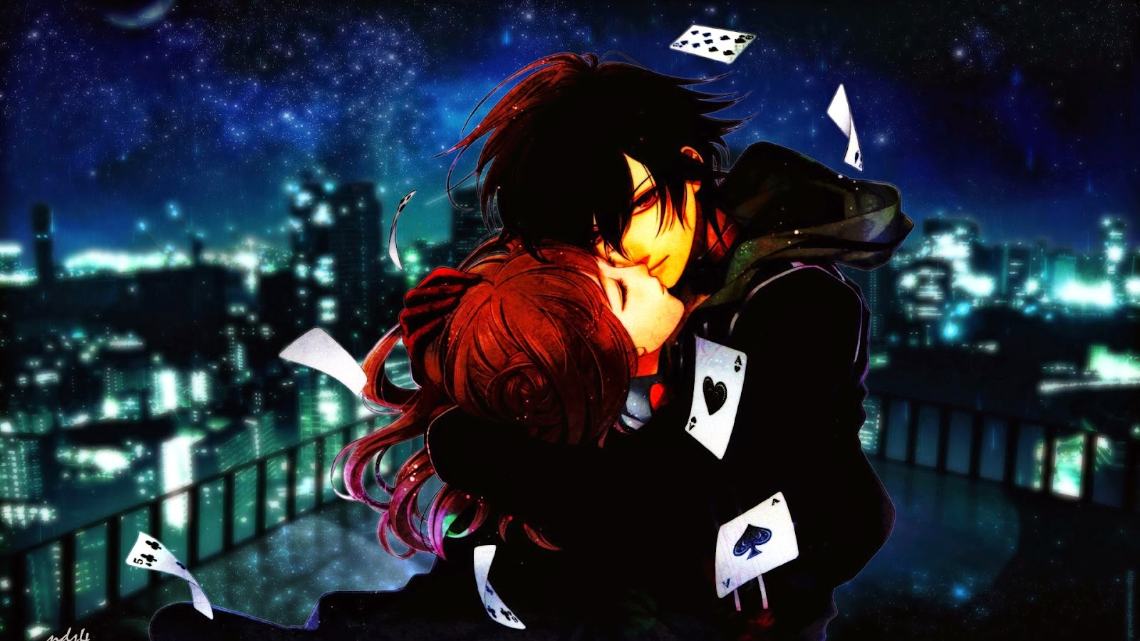 download wallpaper anime love