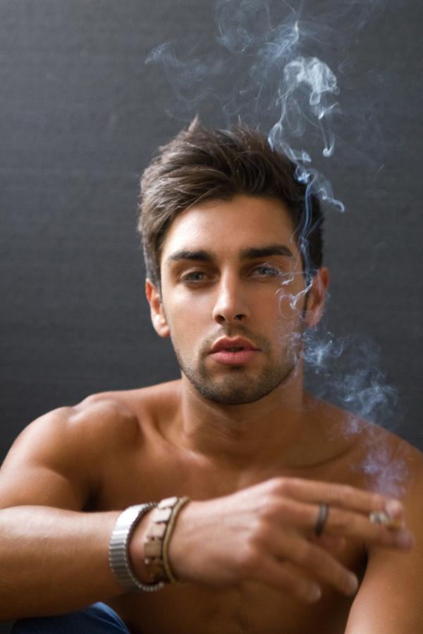 Nude men smoking Nude Photos 98