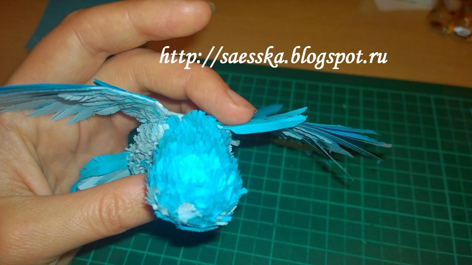 Птица счастья из бумаги