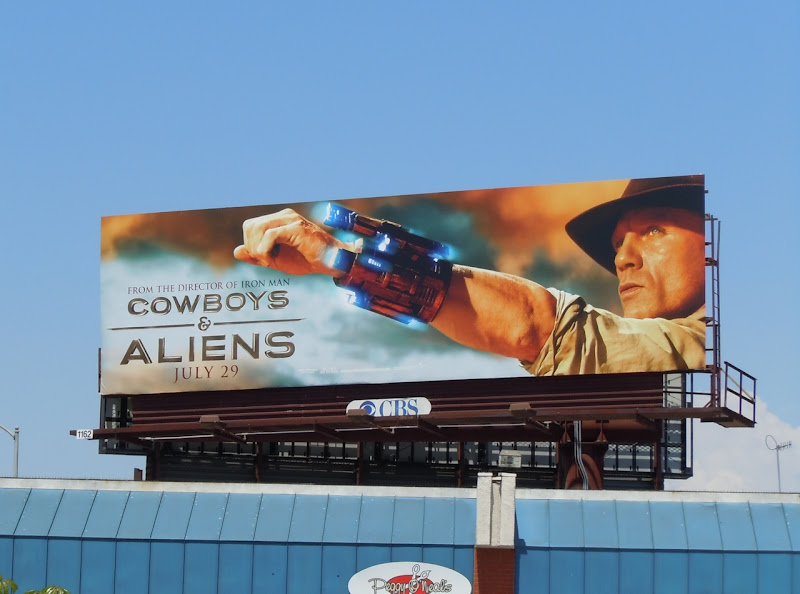 Cowboys and Aliens Daniel Craig billboard