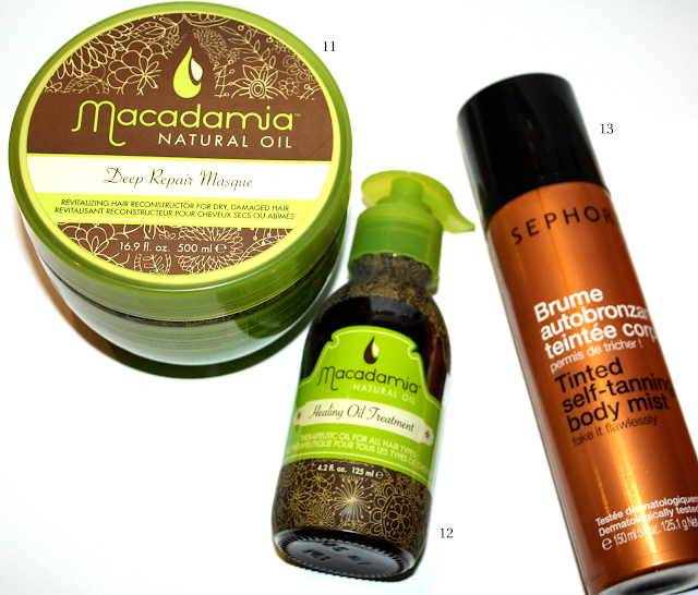 Best Products of 2013: Macadamia Deep Repair Hair Masque, Macadamia Healing Oil Treatment, Sephora Collection Tinted Self-Tanning Body Mist