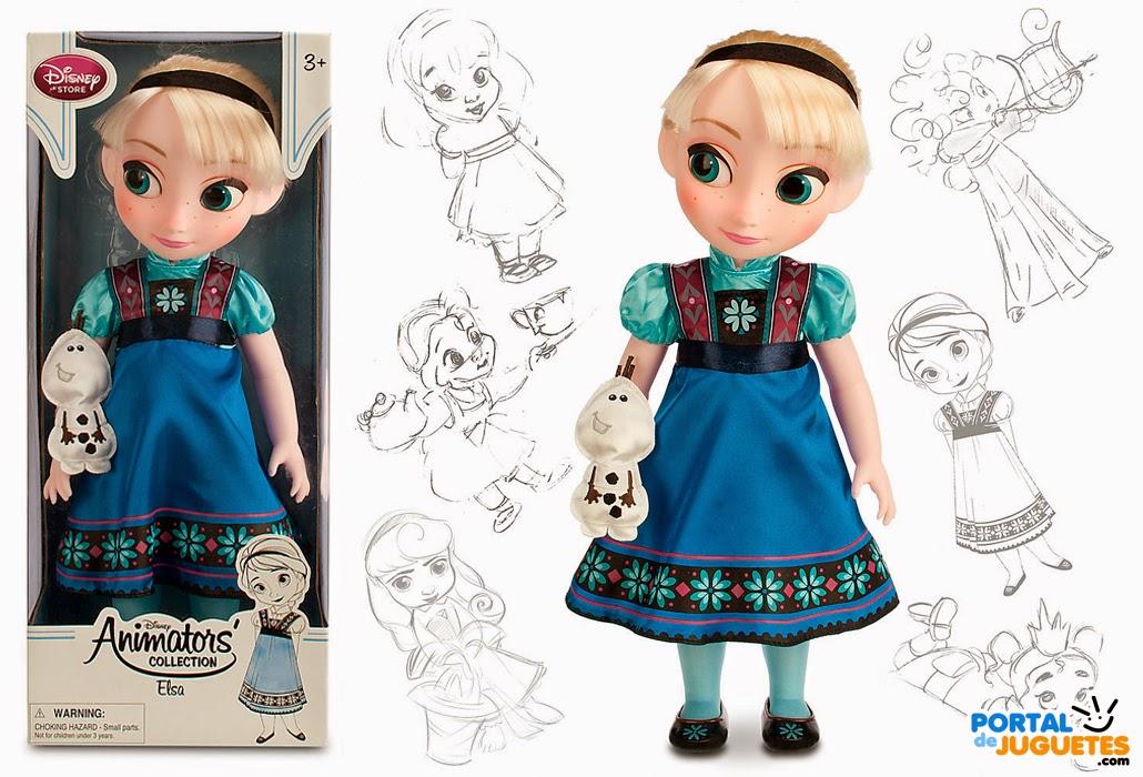 muñeca elsa segunda edicion coleccion disney animators frozen mascota caja