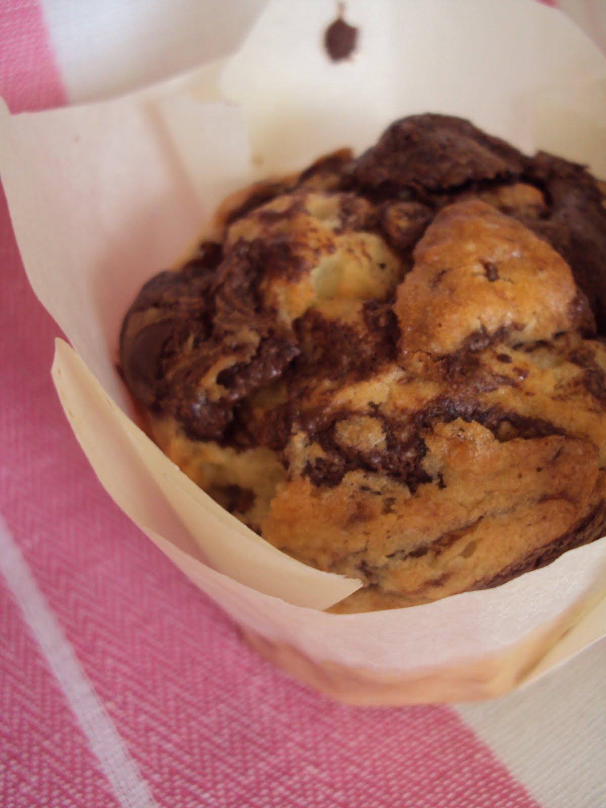 MissMuffins opskrifter: Zucchini Muffins with Nutella Swirl