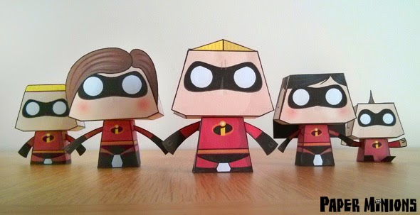 Paper Minions The Incredibles