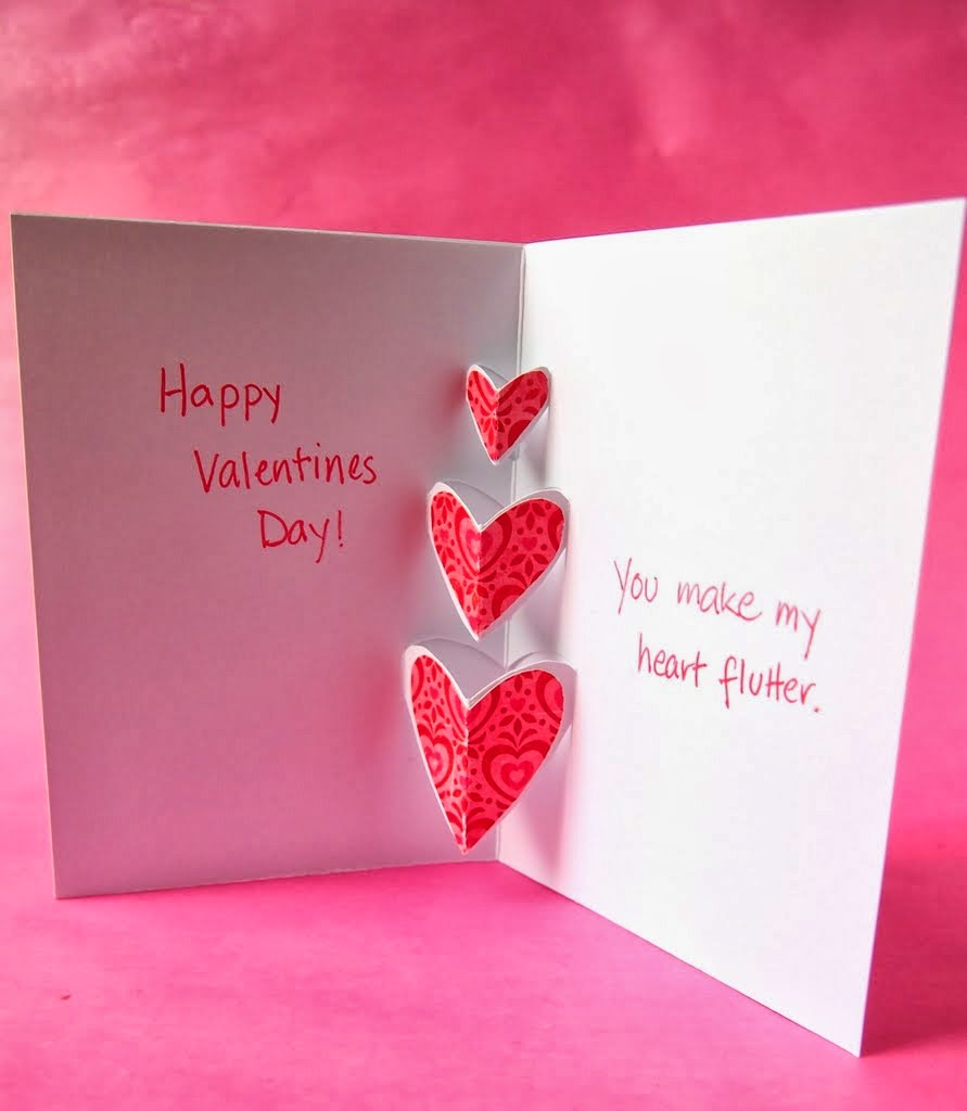 The tiny funnel valentine pop out cards if youre feeling adventurous make three hearts just remember to put the heart tabs in the middle of the hearts not too close to the top edge as they will kristyandbryce Choice Image