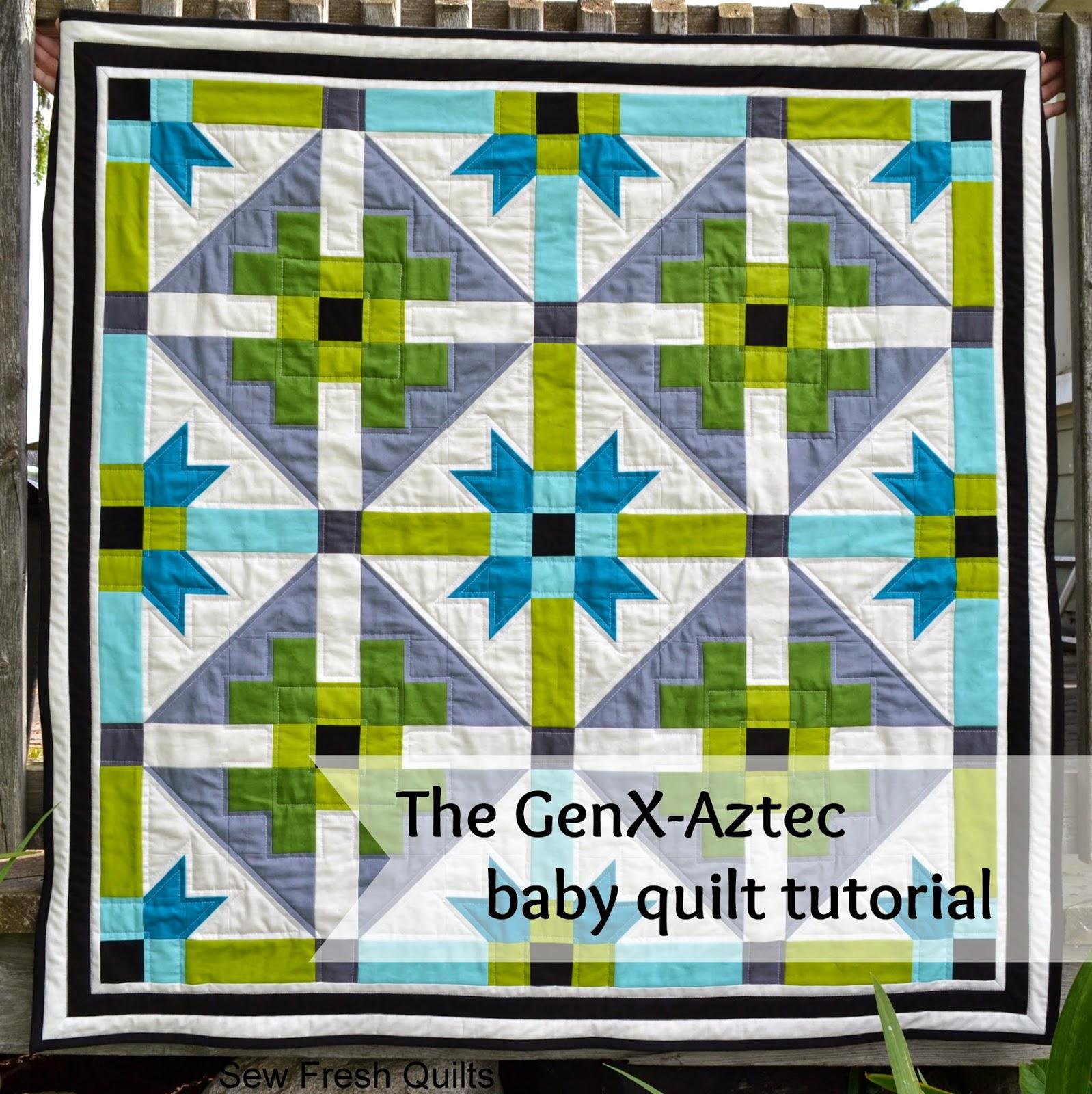 GenX-Axtec baby quilt tutorial