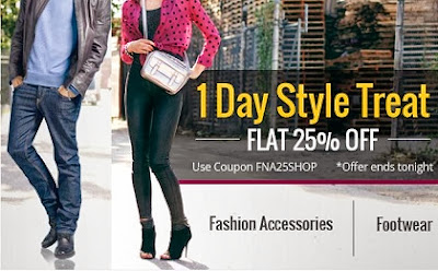 Flat 15% additional off on Men's / Women's Footwear & Fashion Accessories at HomeShop18