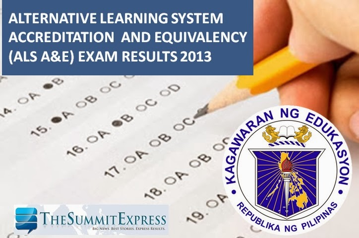 ALS A and E 2013 exam results