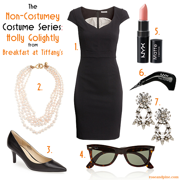 non costumey costume series halloween holly golightly audrey hepburn breakfast at tiffanies fashion style beauty