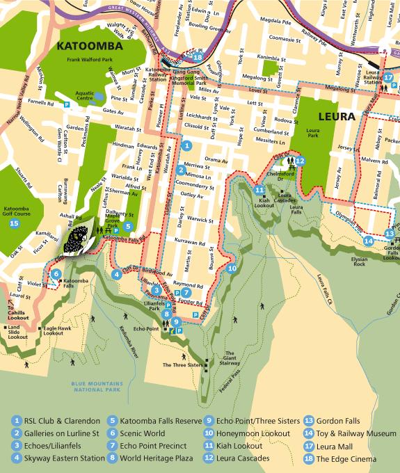 Mapa de Katoomba