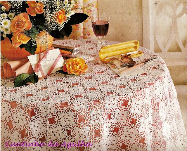 toalha de mesa em croche goma caseira croche com receitas