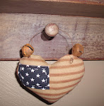 PATRIOTIC AMERICANA HEART ORNIES / BOWL FILLERS