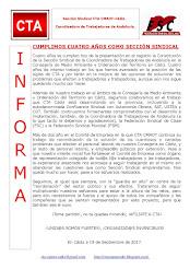 CUMPLIMOS CUATRO AÑOS COMO SECCIÓN SINDICAL