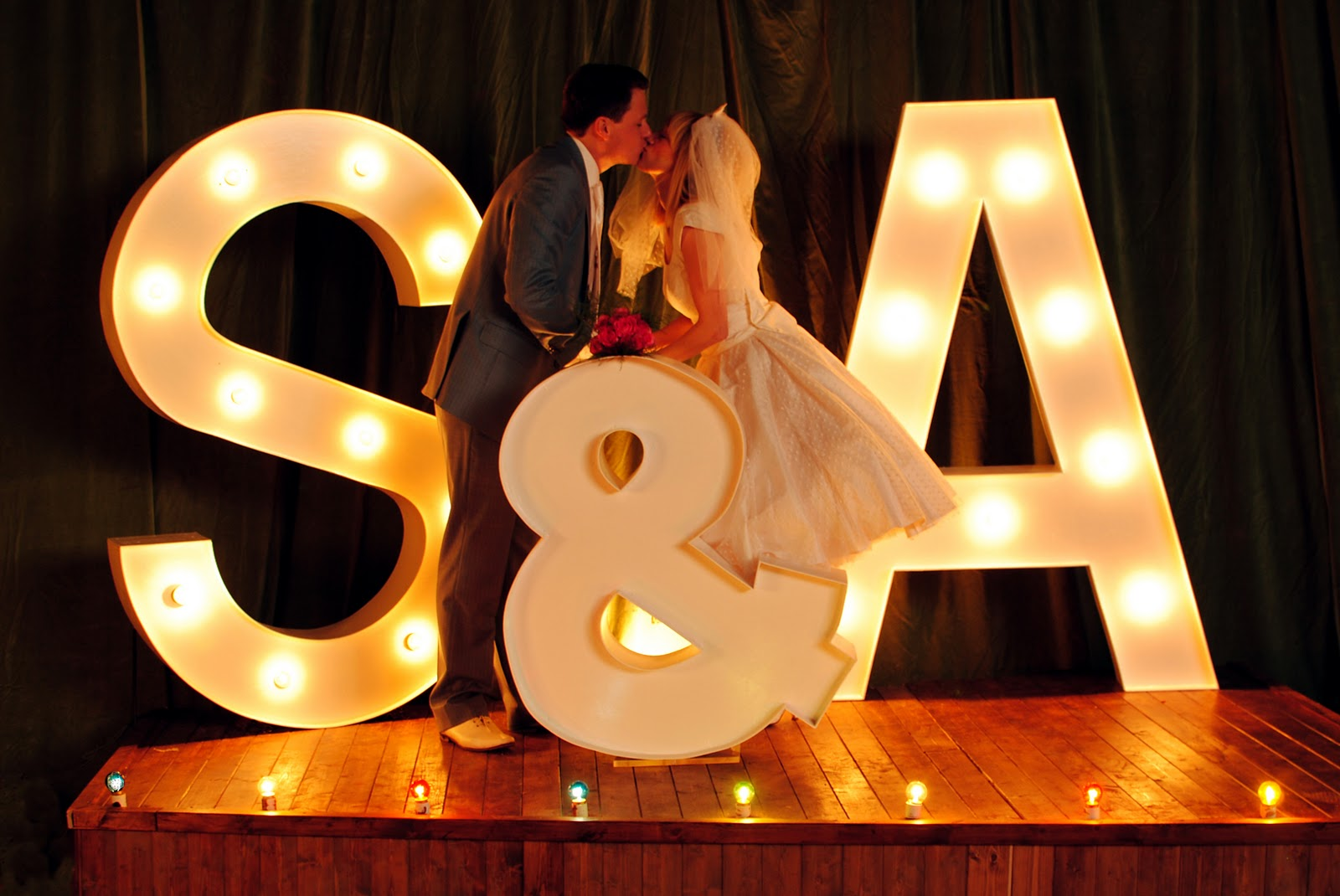 These are our lovely light up wooden letters! We've got the whole ...