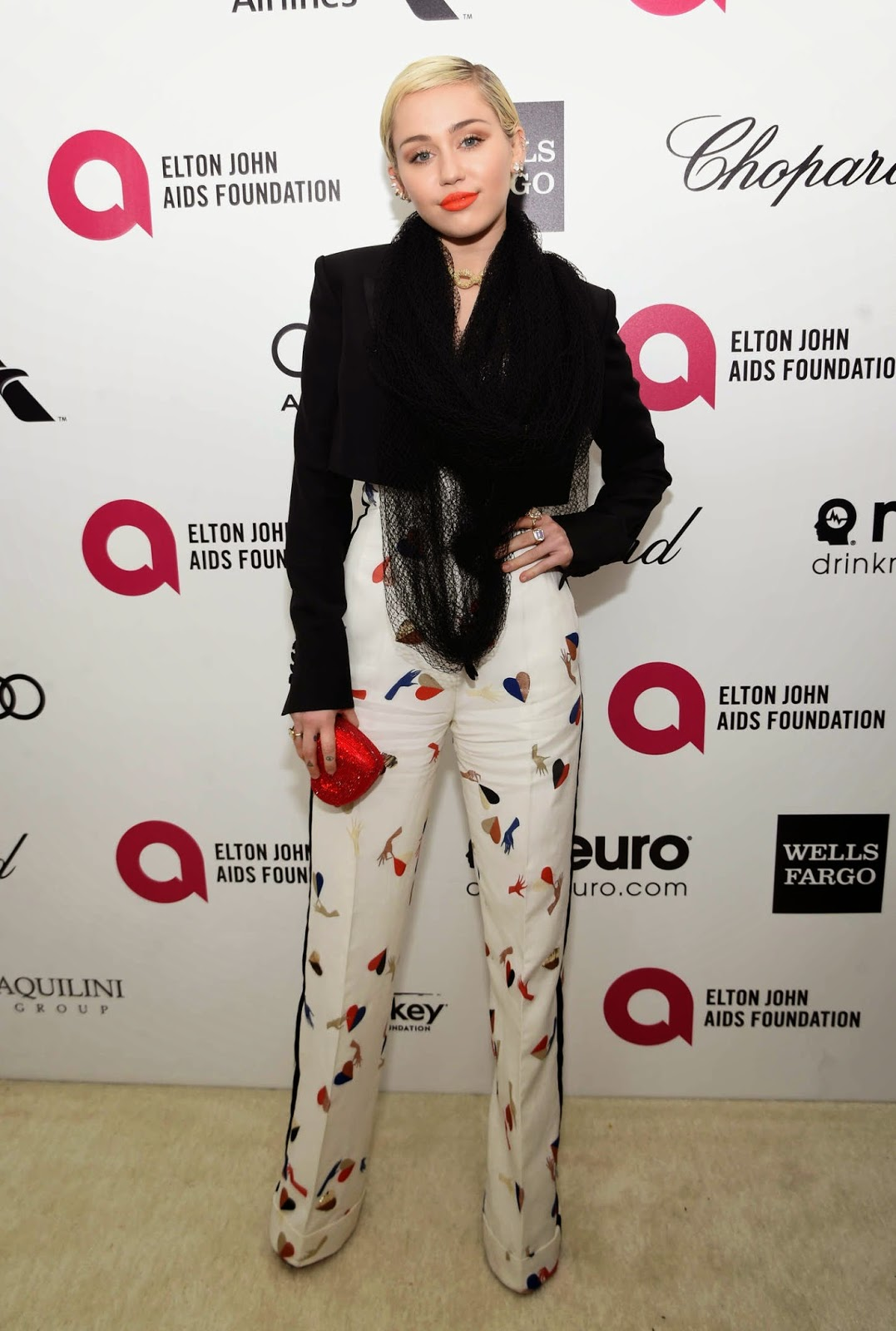 Miley Cyrus – 23rd Annual Elton John AIDS Foundation Academy Awards Viewing Party in LA