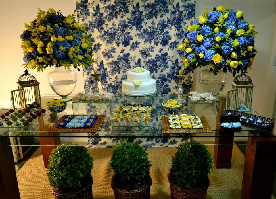 decoracao de festa azul marinho e amarelo:Meu mundinho cor de rosa: Decoração azul e amarelo!!!