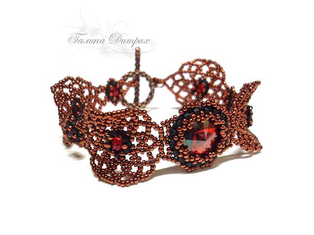 Готический бронзовый браслет