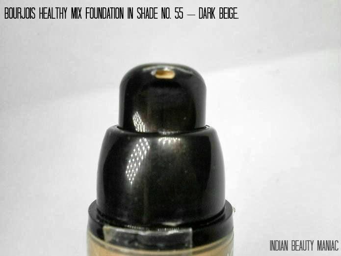Bourjois Healthy Mix Foundation in Shade No. 55 Dark Beige nozzle