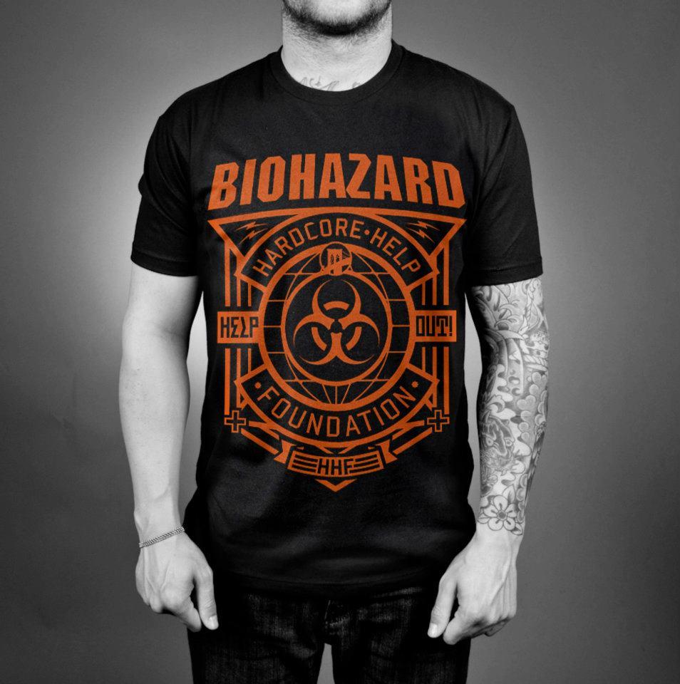 horns up rocks biohazard create badass tshirt to help