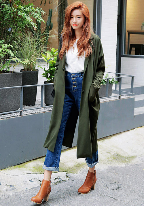 Natural Chic Two-Pocket Coat