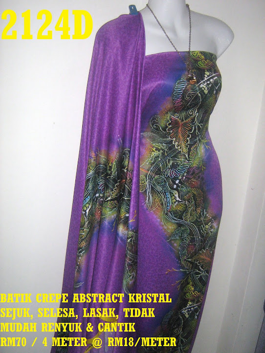 2124D: BATIK CREPE ABSTRACT KRISTAL,  4 METER