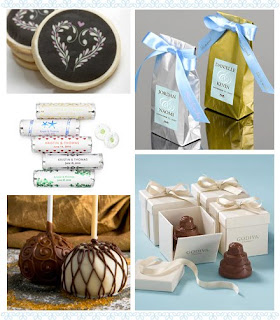 edible wedding favors,chocolate wedding favors,candy wedding favors,wedding favor ideas,cookie wedding favors