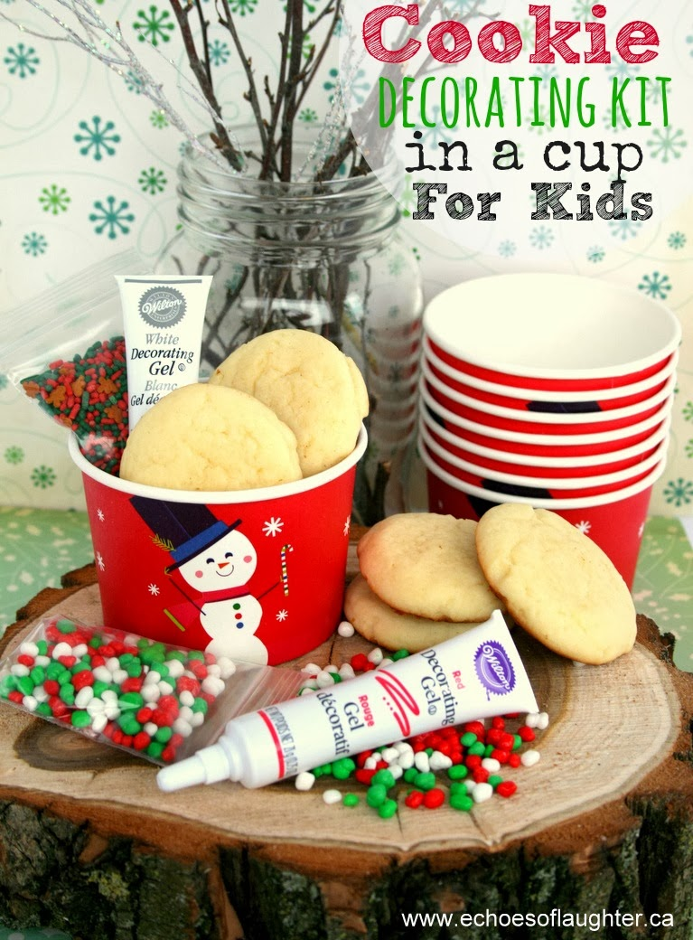 Christmas Cookie Decorating Kit In A Cup for Kids - Echoes of Laughter