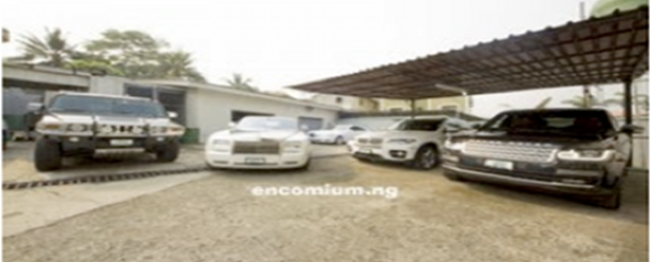 Pastor Chris Okotie and his fleet of cars