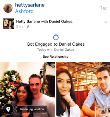 Hetty Sarlene Sah Tunang 'Mat Saleh'