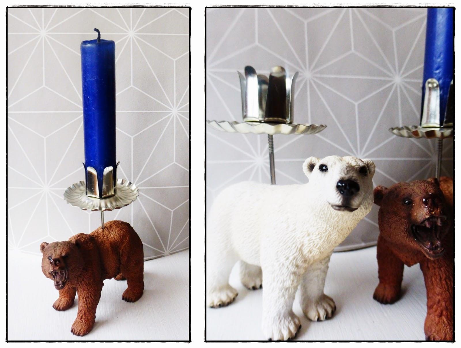 DIY Upcycling Kerzenhalter Kerzenständer aus Schleichtieren Spielzeugtieren