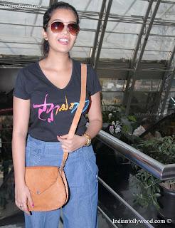 Colors Swathi Latest Stills In black T Shirt