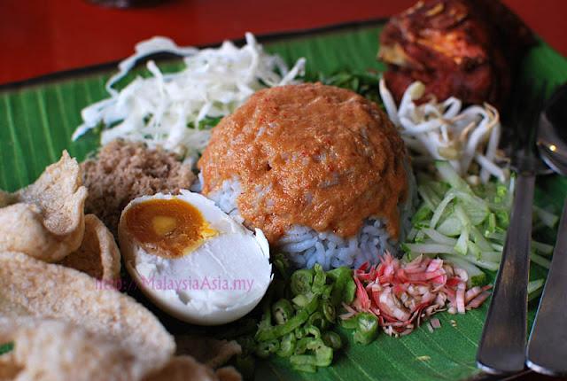 Nasi Kerabu at Hayaki Cafe, Tune Hotels Kota Bharu