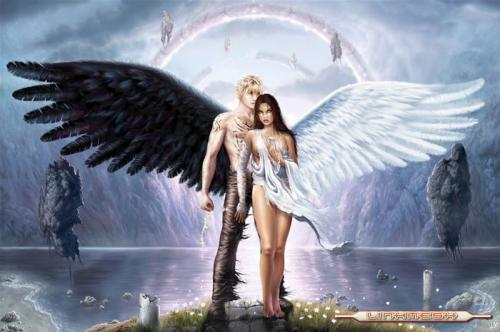 imagenes de angeles enamorados. angeles enamorados