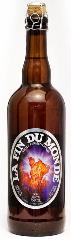 bottle Fin Du Monde Beer Unibroue gluten free low triple tripel bier celiac French Canadian Belgian test result craft micro brew