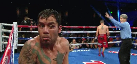 Funny Diego Chaves reaction after disqualified by Vic Draculich