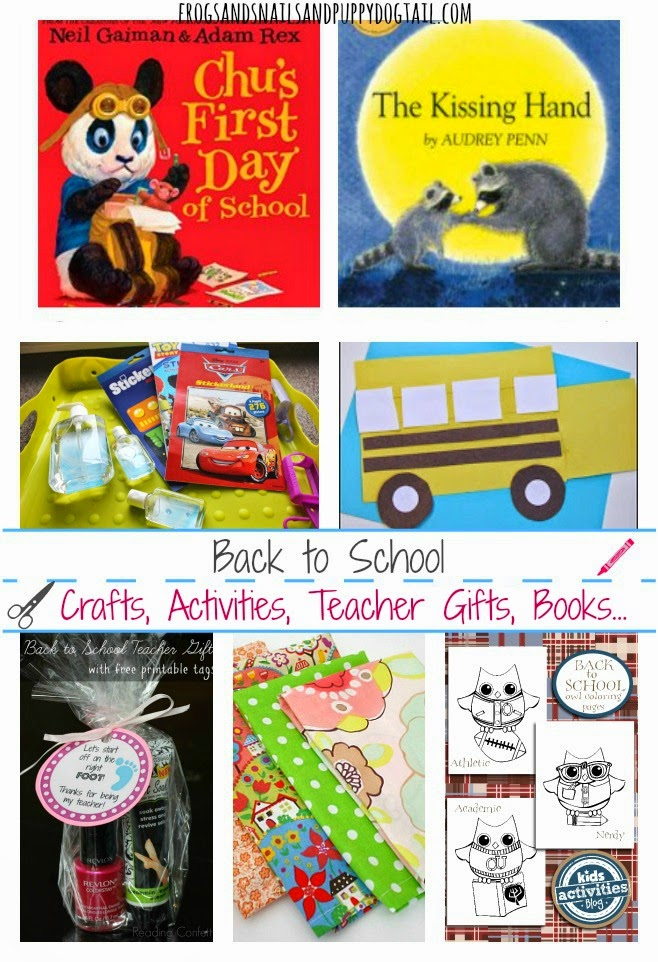 Back To School: Crafts, Activities, Teacher Gifts, Books...