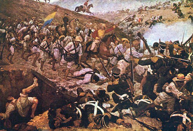 Pintura de la Batalla de Boyacá Obra de Martín Tovar y Tovar