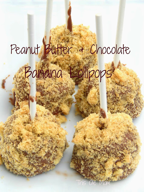 Skippy Peanut Butter, Skippy Peanut Butter recipes, Peanut Butter and Chocolate covered Banana, Chocolate Covered Fruit, Hormel Foods Extended Family Blogger Recipe, Kids Snacks, Easy to make Snacks, Snacks on Sticks