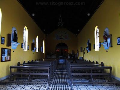 Interior da igreja Nosso Senhor  Bom Jesus de Paranapiacaba