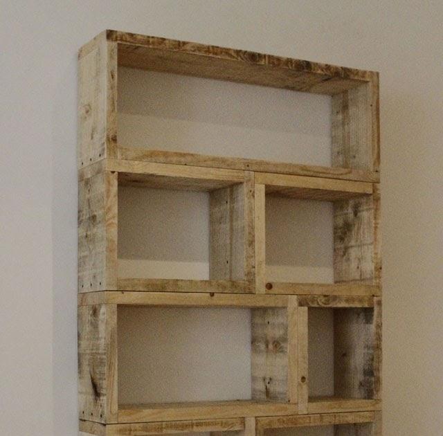 Estantes de paletes de madeira reciclados fotos ideias - Estantes reciclados ...