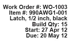 Work orders from OfficeBooks