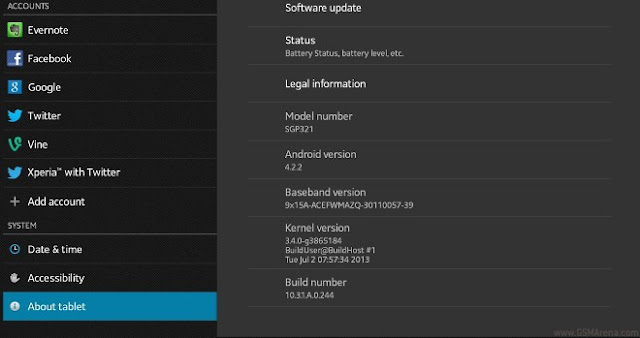 xperia tablet z official update