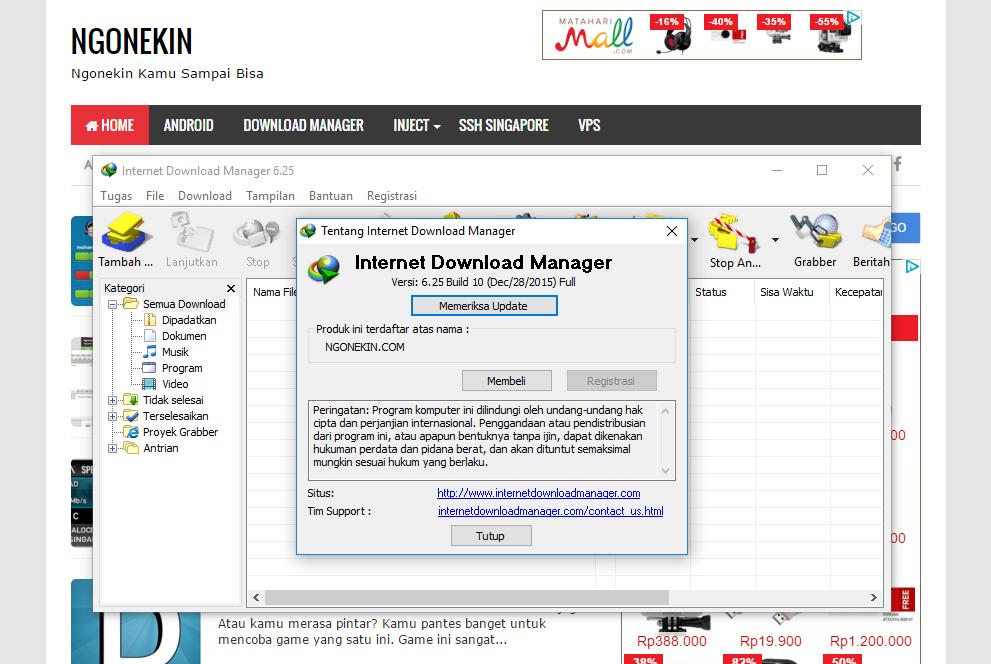 Internet Download Manager 6.25 Build 10 Terbaru Full Version